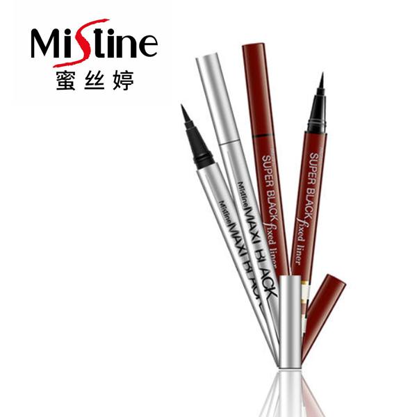 泰国mistine浓黑银管红管眼线笔